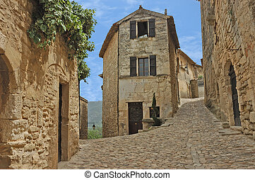 Old French Village - Bakery at the intersection of two...