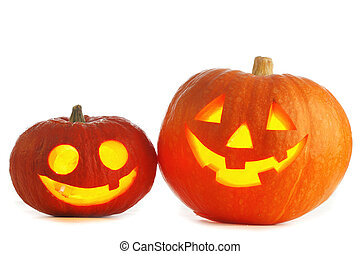 Halloween Jack O and 39; Lanterns - Two funny Halloween Jack...