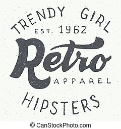 Retro apparel label typographic design - Retro apparel...