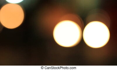 Traffic Bokeh 01 - cars driven at night with the headlamps...