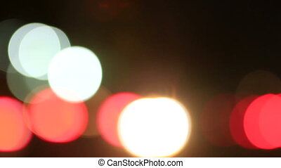 Traffic Bokeh 02 - cars driven at night with the headlamps...