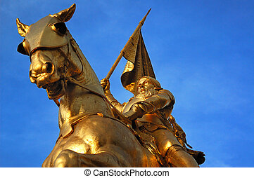 Joan of Arc - Bronze statue of Joan of Arc on Rue de Rivoli...