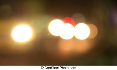 Traffic Bokeh 04 - cars driven at night with the headlamps...
