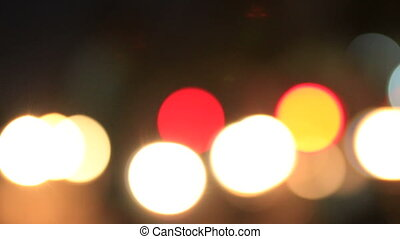 Traffic Bokeh 05 - cars driven at night with the headlamps...