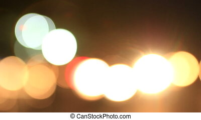Traffic Bokeh 06 - cars driven at night with the headlamps...