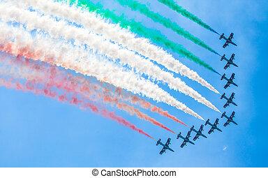 Aerobatic group Frecce Tricolori