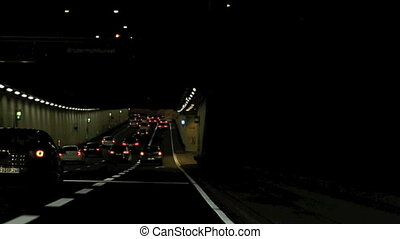 Time lapse driving though a tunnel - Time lapse of driving...