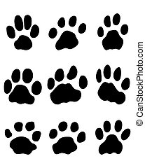 jaguar paw - Black print of jaguar paw, vector