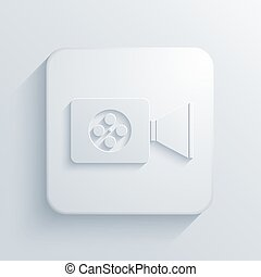 Vector modern videocamera light icon with shadow