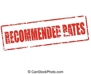 Recommended rates - Rubber stamp with text recommended rates...
