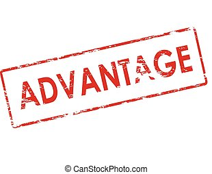 Advantage - Rubber stamp with word advantage inside, vector...