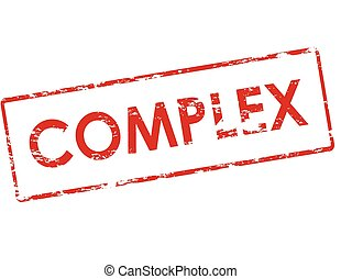 Complex - Rubber stamp with word complex inside, vector...