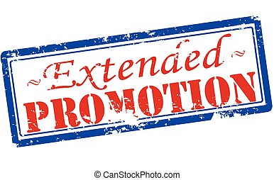Extended promotion - Rubber stamp with text extended...