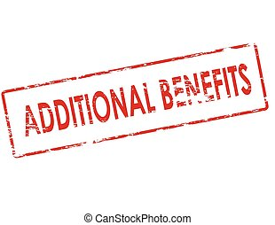 Additional benefits - Rubber stamp with text additional...