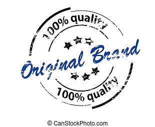 Original brand - Rubber stamp with text original brand...