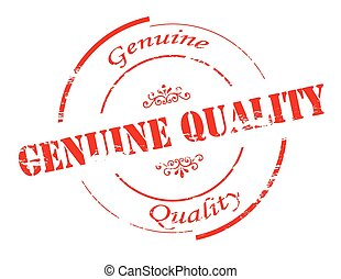Genuine quality - Rubber stamp with text genuine quality...