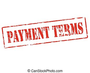 Payment terms - Rubber stamp with text payment termsinside,...