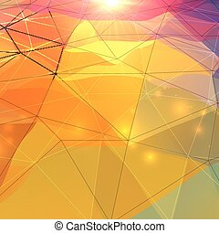 Abstract triangles polygonal surface - Abstract triangles...
