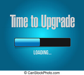 time to upgrade loading bar sign concept illustration design...