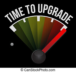 time to upgrade meter sign concept illustration design...