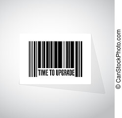 time to upgrade barcode sign concept illustration design...