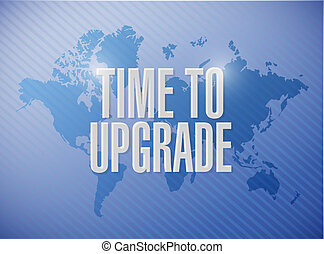 time to upgrade map sign concept illustration design graphic