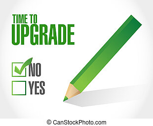 negative time to upgrade sign concept illustration design...