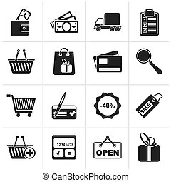 Shopping and website icons - Black Shopping and website...