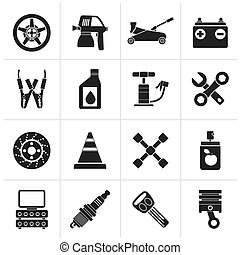 Transportation and car repair icon - Black Transportation...