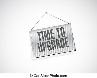 time to upgrade texture banner sign concept illustration...