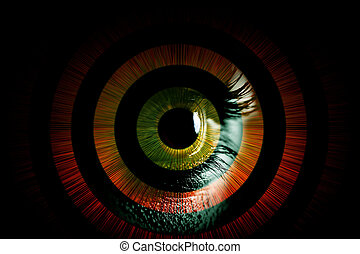 Eye - Human eye – abstract vision concept