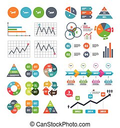 Document signs File extensions symbols - Business data pie...