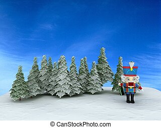 Nutcracker in the forest