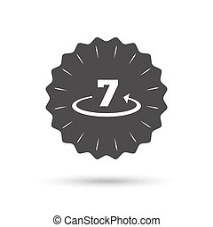 Return of goods within 7 days sign icon - Vintage emblem...