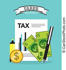tax payment design, vector illustration eps10 graphic