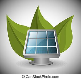 Green energy and ecology theme design, vector illustration.