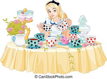 Alice Takes Tea Cup
