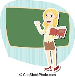 beautiful female teacher - Cartoon beautiful female teacher...