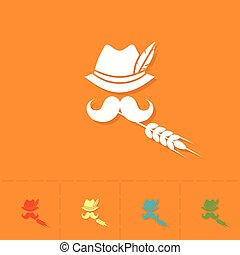 Oktoberfest Beer Festival - German Hat with Feather,...