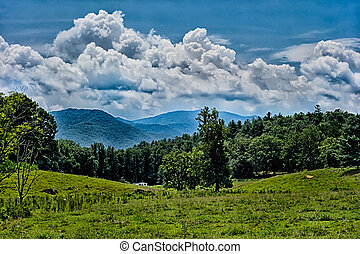 Blue Ridges of the Appalachian Mountains on the Blue Ridge...