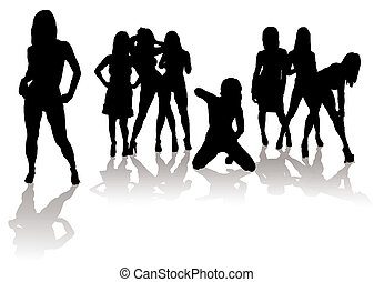 sexy,  silhouette, Femmes