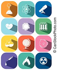 Icons for technology and science