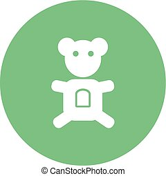 Stuffed Toy - Teddy, bear, stuffed icon vector image. Can...