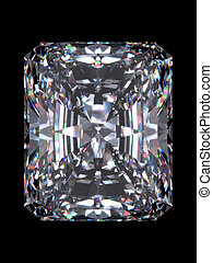 Diamond radiant cut - Diamond series; isolated 3d jewellery...