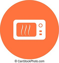 Microwave, oven, kitchen icon vector image Can also be used...