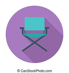 Camping chair Flat vector icon for mobile and web...