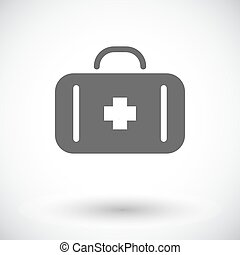 First aid. Single flat icon on white background. Vector...