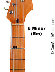 Em Guitar Chord Diagram - Diagram of how to finger an E...