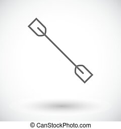 Paddle. Single flat icon on white background. Vector...