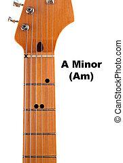 Am Guitar Chord Diagram